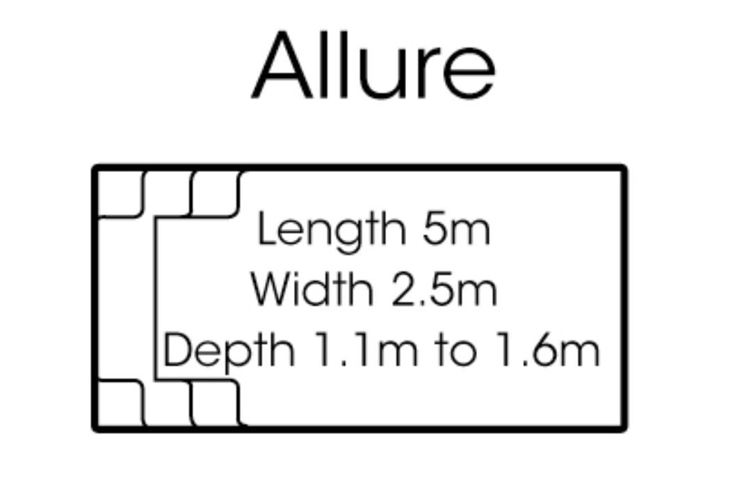 fibreglass pools shapes allure