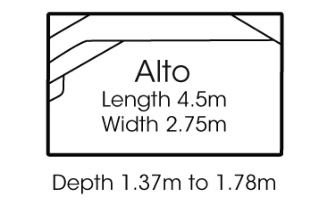 fibreglass pools shapes alto