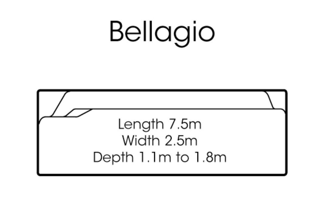 fibreglass pools shapes bellagio