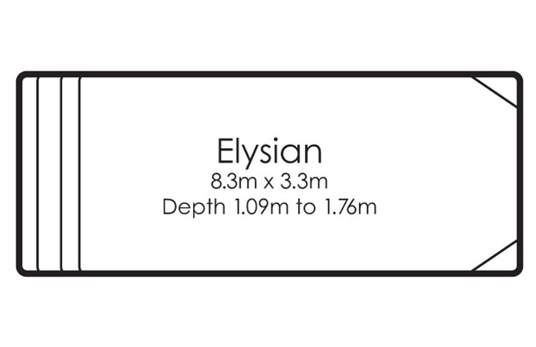 fibreglass pools shapes elysian