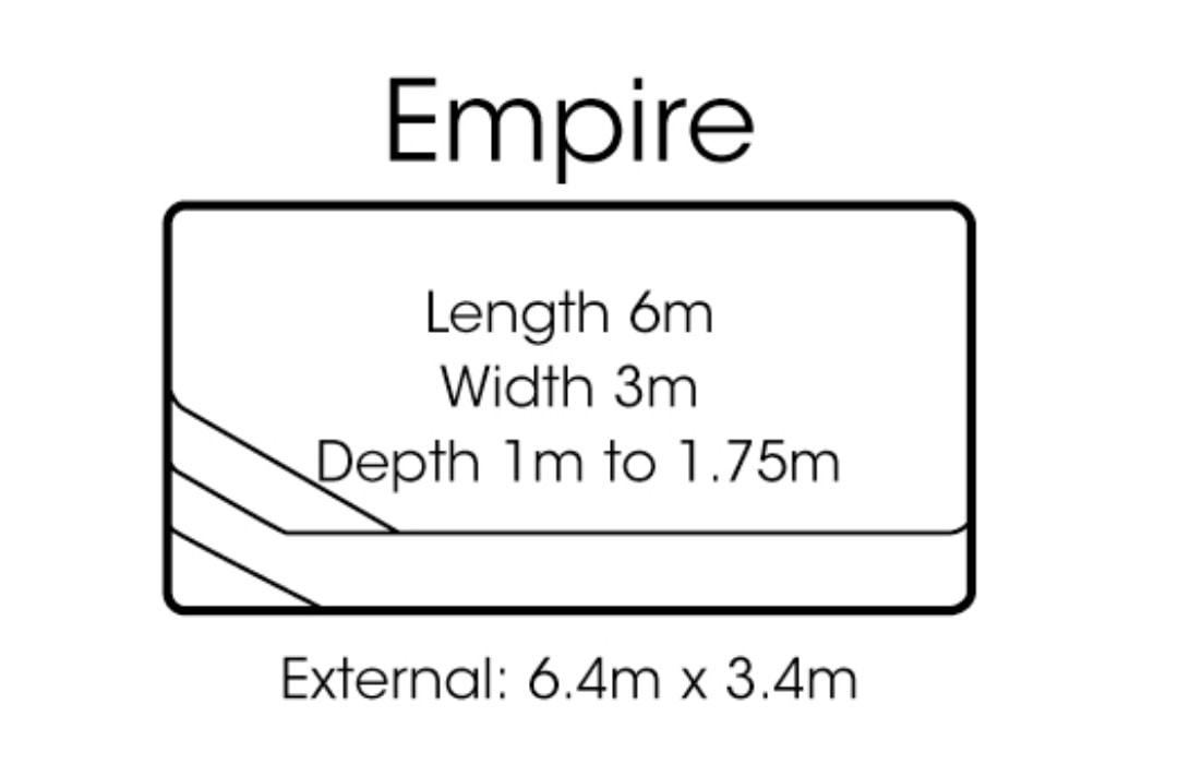 fibreglass pools shapes empire
