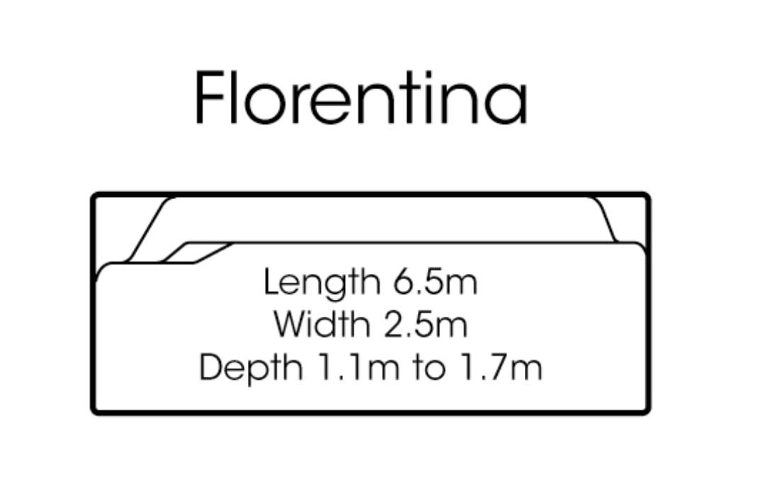 fibreglass pools shapes florentina