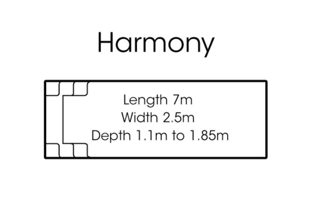 fibreglass pools shapes Harmony