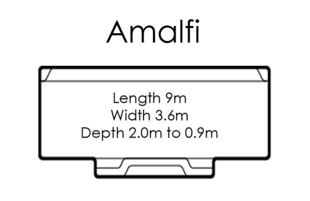 fibreglass pools shapes amalfi