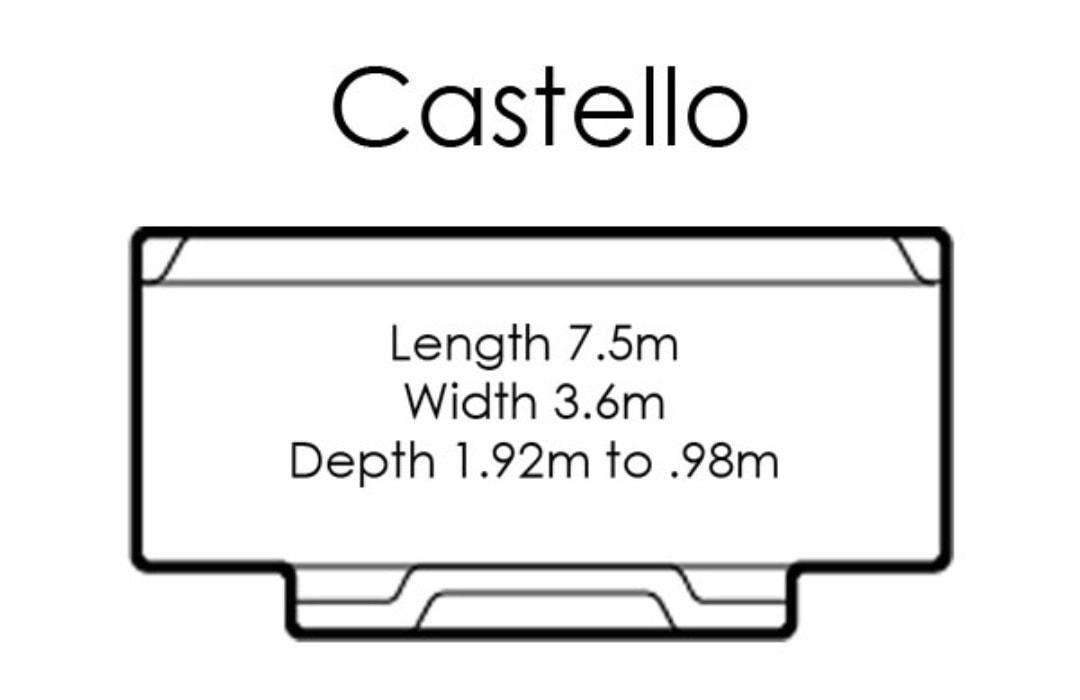 fibreglass pools shapes castello