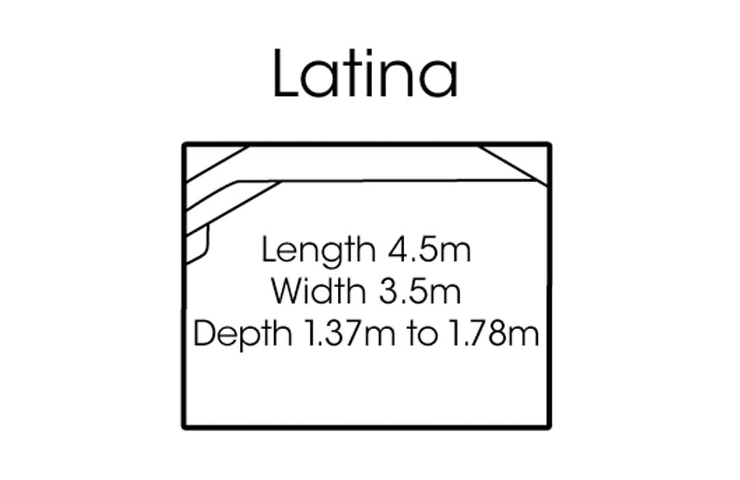 fibreglass pools shapes latina